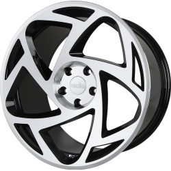 R8S5 18x8.5 ET40 5x112 BLACK MACHINED FACE