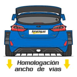 HOMOLOGACIÓN ANCHO DE VÍAS