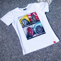 CAMISETA JR-WHEELS MIX WHITE