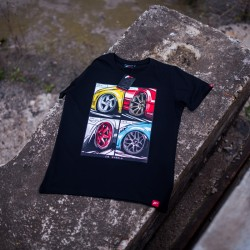 CAMISETA JR-WHEELS MIX BLACK